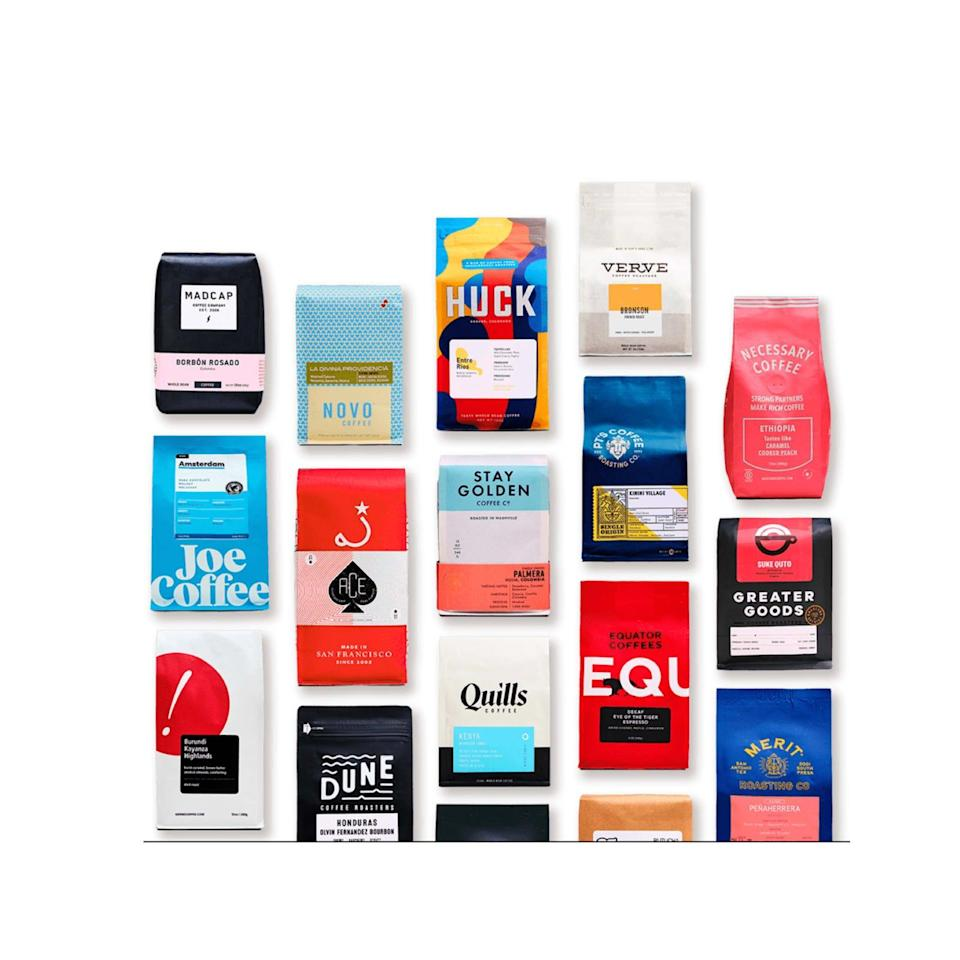 """Expand his brewed drink palette with a subscription of assorted coffee beans sourced from all over the country. <br><br><strong>Trade</strong> Coffee Subscription, $, available at <a href=""""https://go.skimresources.com/?id=30283X879131&url=https%3A%2F%2Fwww.drinktrade.com%2Fgift-subscription%2Fp%2F1858"""" rel=""""nofollow noopener"""" target=""""_blank"""" data-ylk=""""slk:Trade"""" class=""""link rapid-noclick-resp"""">Trade</a>"""