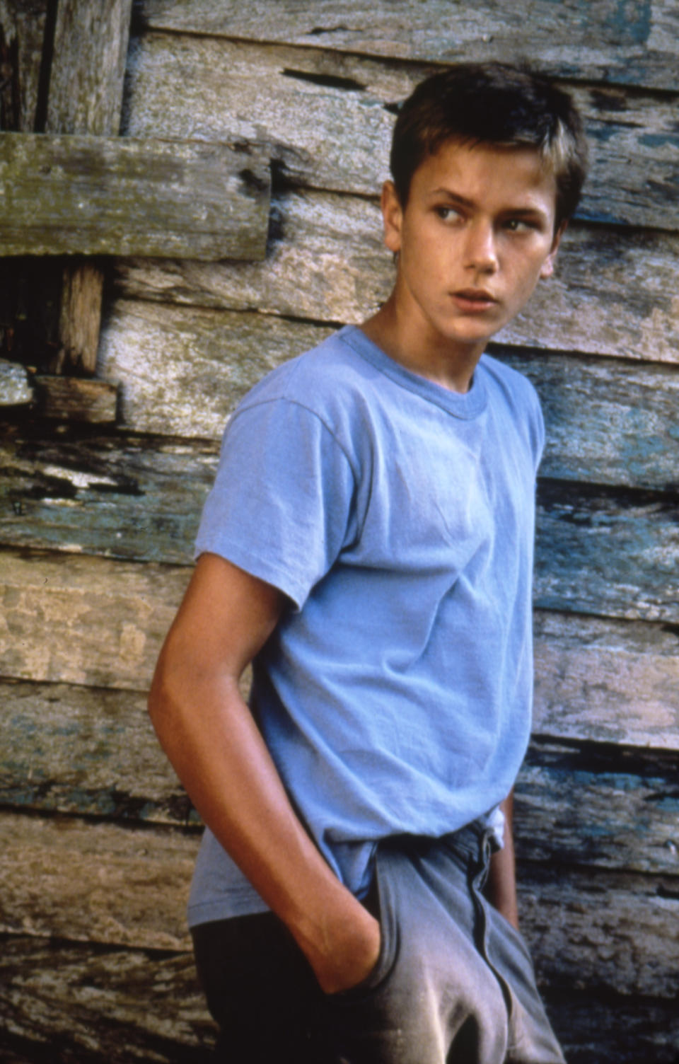 American actor River Phoenix on the set of The Mosquito Coast based on the novel by Paul Theroux and directed by Australian Peter Weir. (Photo by Sunset Boulevard/Corbis via Getty Images)