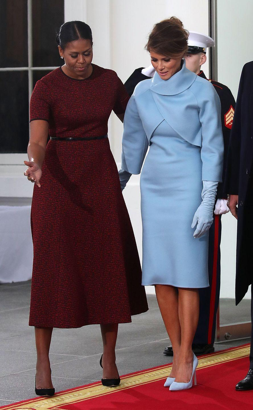 """<p>The official Twitter account for the First Lady of the United States, <a href=""""https://twitter.com/FLOTUS"""" rel=""""nofollow noopener"""" target=""""_blank"""" data-ylk=""""slk:@FLOTUS"""" class=""""link rapid-noclick-resp"""">@FLOTUS</a>, was passed <a href=""""https://www.vanityfair.com/style/2017/01/melania-trump-taking-over-flotus-twitter-account"""" rel=""""nofollow noopener"""" target=""""_blank"""" data-ylk=""""slk:from Michelle Obama to Melania Trump"""" class=""""link rapid-noclick-resp"""">from Michelle Obama to Melania Trump</a> in 2017. Going forward, Twitter has said that the <a href=""""https://www.npr.org/sections/biden-transition-updates/2020/12/23/949632440/twitter-will-reset-potus-account-to-0-followers-after-biden-transition"""" rel=""""nofollow noopener"""" target=""""_blank"""" data-ylk=""""slk:institutional White House Twitter accounts"""" class=""""link rapid-noclick-resp"""">institutional White House Twitter accounts</a> will not """"automatically retain their existing followers,"""" meaning when a new first lady takes over, the FLOTUS account will start with zero followers.</p>"""