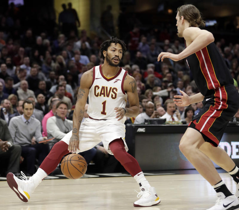 Former MVP Derrick Rose will now look to catch on with his fourth team in the last three years. (AP)