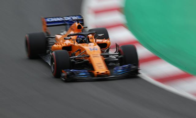 Formula One F1 - Spanish Grand Prix - Circuit de Barcelona-Catalunya, Barcelona, Spain - May 12, 2018 McLaren's Fernando Alonso during practice REUTERS/Albert Gea