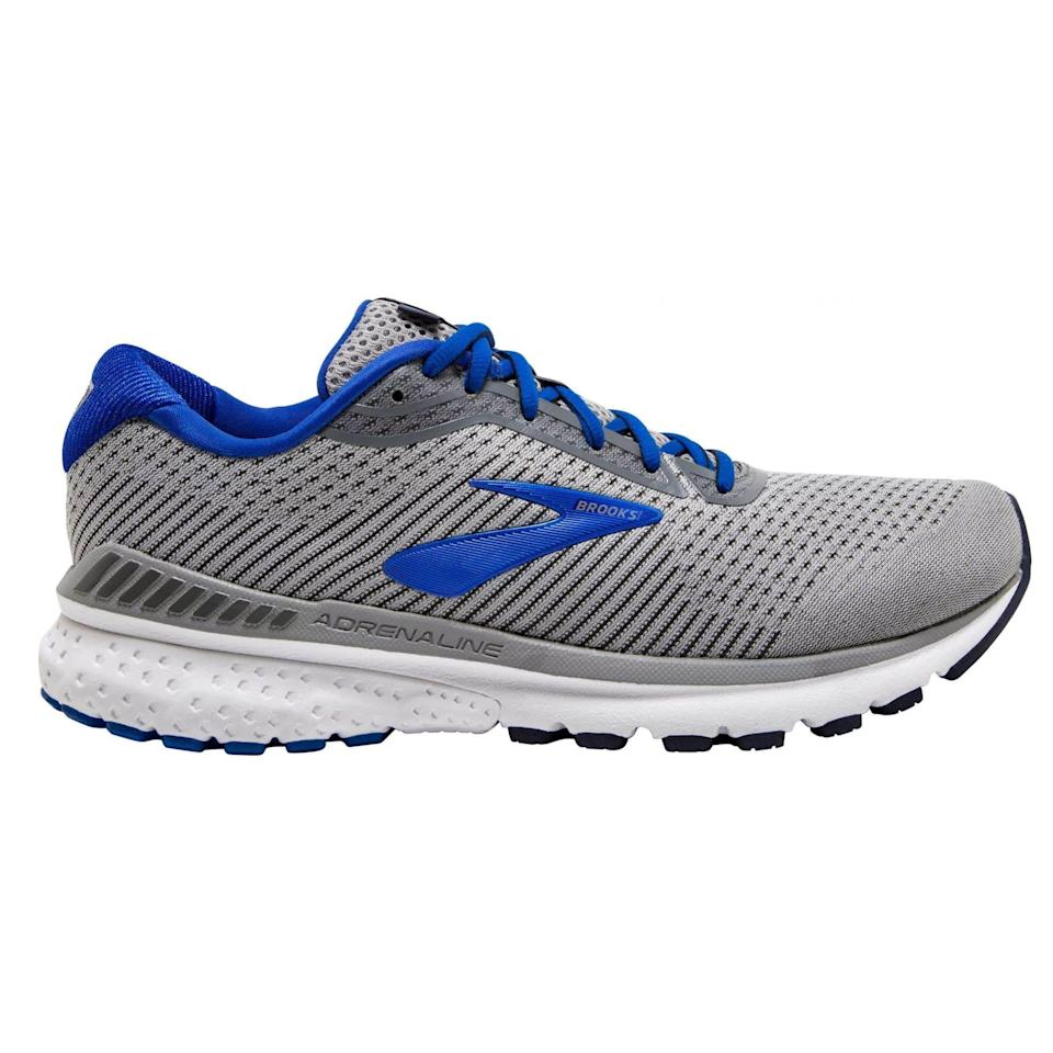 """<p><strong>Brooks</strong></p><p>amazon.com</p><p><strong>$92.98</strong></p><p><a href=""""https://www.amazon.com/dp/B07LCW1K4V?tag=syn-yahoo-20&ascsubtag=%5Bartid%7C2141.g.36533538%5Bsrc%7Cyahoo-us"""" rel=""""nofollow noopener"""" target=""""_blank"""" data-ylk=""""slk:Shop Now"""" class=""""link rapid-noclick-resp"""">Shop Now</a></p><p>Tried and true, you can't go wrong with the Brooks Adrenaline. Thanks to the Guiderails that hug your heel, they are a great option for runners that need some extra support, or even a neutral runner that wants a long-run shoe that will keep them in check when they get tired and their form gets sloppy. </p><p><a class=""""link rapid-noclick-resp"""" href=""""https://www.amazon.com/Brooks-Womens-Adrenaline-Running-Shoe/dp/B07LCWX91N/ref=sr_1_4?dchild=1&keywords=brooks+adrenaline&qid=1621603990&sr=8-4&tag=syn-yahoo-20&ascsubtag=%5Bartid%7C2141.g.36533538%5Bsrc%7Cyahoo-us"""" rel=""""nofollow noopener"""" target=""""_blank"""" data-ylk=""""slk:Buy Women's"""">Buy Women's </a></p>"""
