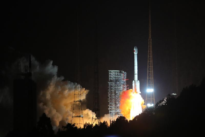 China Launches Two BeiDou Navigation Satellites In Xichang