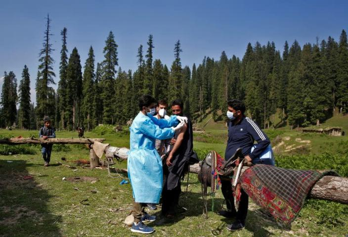 FILE PHOTO: Vaccination drive in south Kashmir's Pulwama district