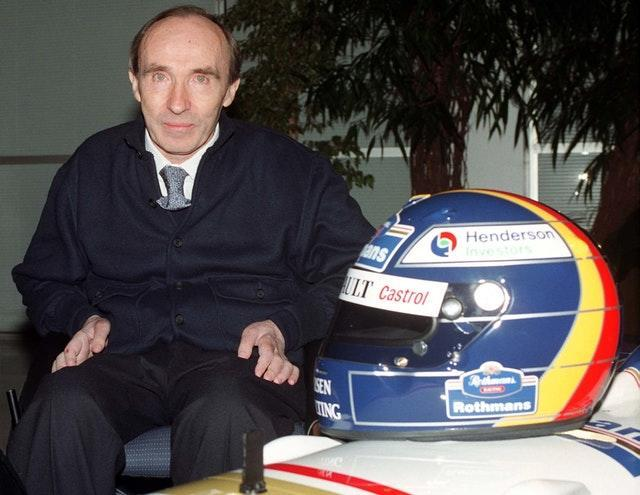 Formula One team boss Frank Williams at a sponsor launch