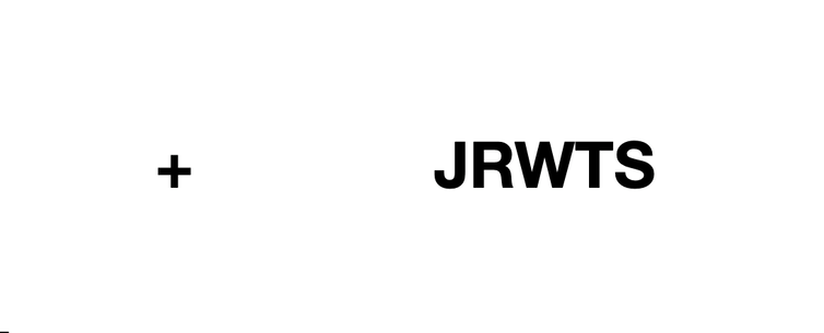 Image of a plus sign on the left and JRWTS on the right.