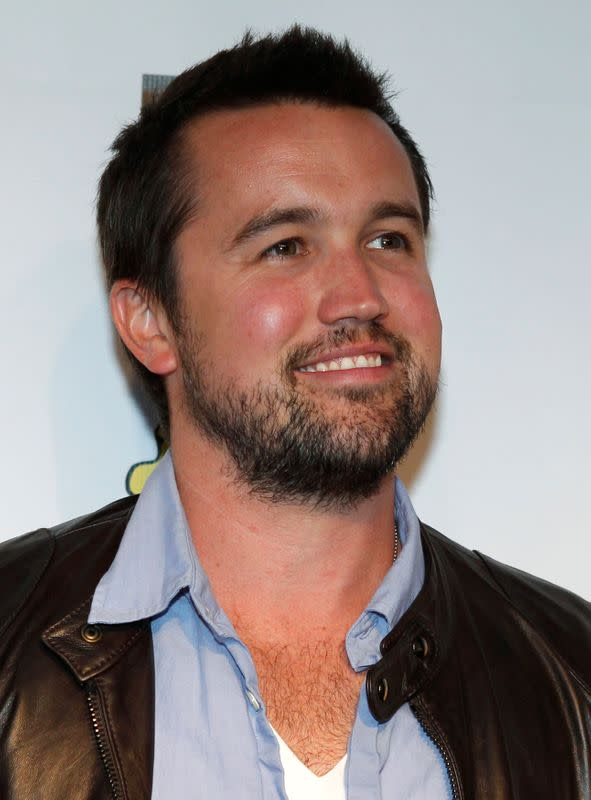 """FILE PHOTO: McElhenney poses at the seventh season premiere screening of """"It's Always Sunny in Philadelphia"""" in Hollywood"""