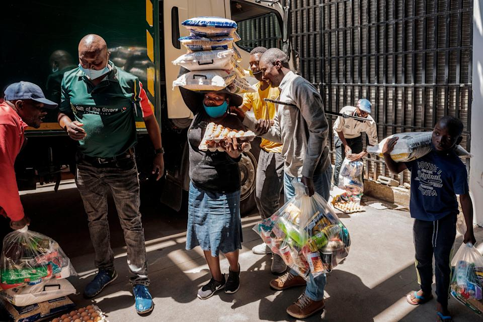 South Africa's lockdown is believed to have intensified the spread of coronavirus in dense urban areasAFP via Getty Images