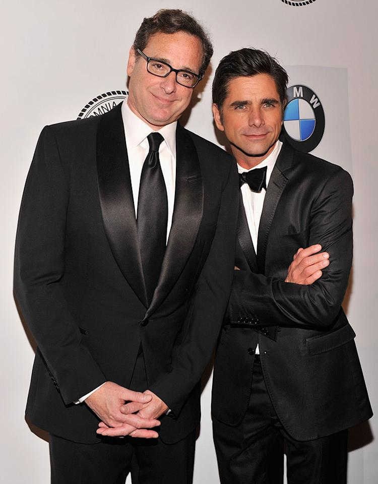 "It was a mini-""Full House"" reunion when two of the show's stars Bob Saget and John Stamos met up on the red carpet of The Friars Foundation Annual Applause Award Gala honoring Don Rickles at New York's  Waldorf Astoria on Monday evening. Looking good, guys! (6/24/2013)"