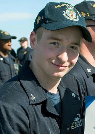 Electronics Technician 2nd Class Jacob Daniel Drake, 21, from Cable, Ohio, who was stationed aboard the USS John S. McCain when it collided with a merchant vessel in waters near Singapore and Malayasia, August 21, 2017, is shown in this undated photo provided August 24, 2017. U.S. Navy/Handout via REUTERS