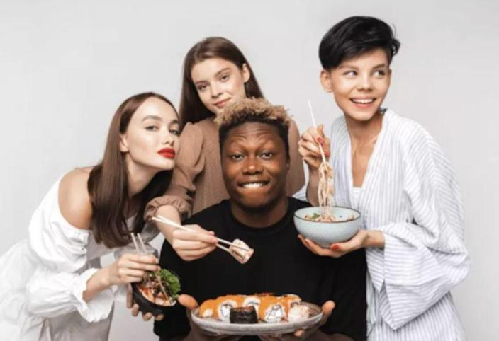 A photo used by Russia sushi restaurant chain Yobidoyobi, which the chain's founder said had been taken down due to a backlash against the use of a Black model.
