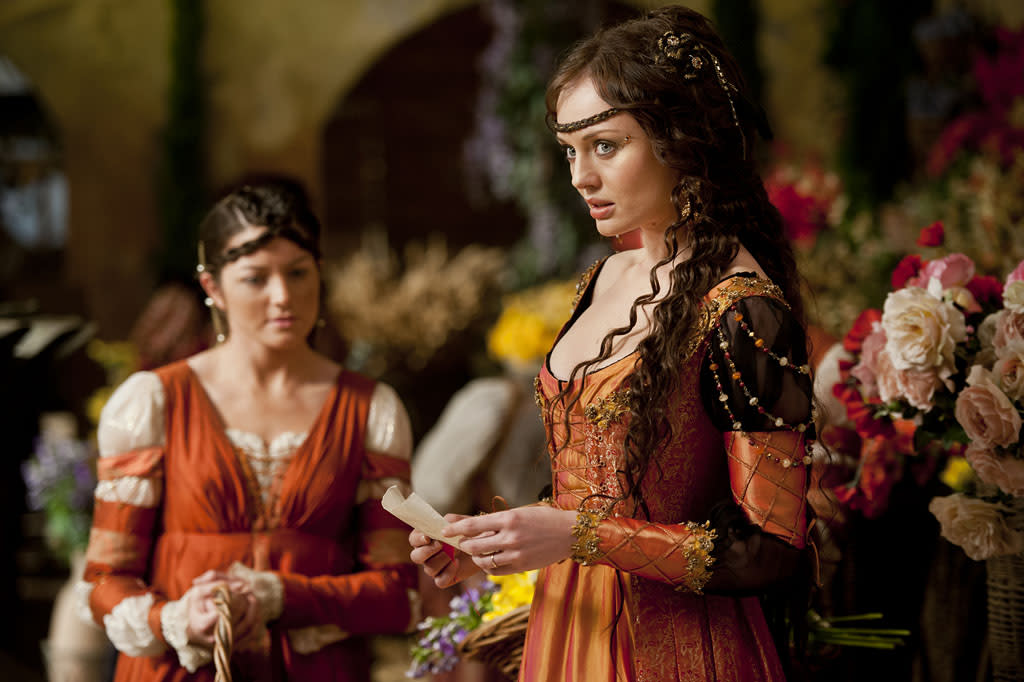 "Lucrezia Donati (Laura Haddock) in ""Da Vinci's Demons"" on Starz."