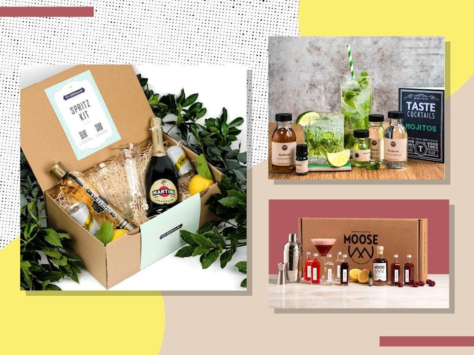 There are now a dazzling array of kits on offer to help aspiring mixologists with their happy hour kitchen experiments (iStock/The Independent)