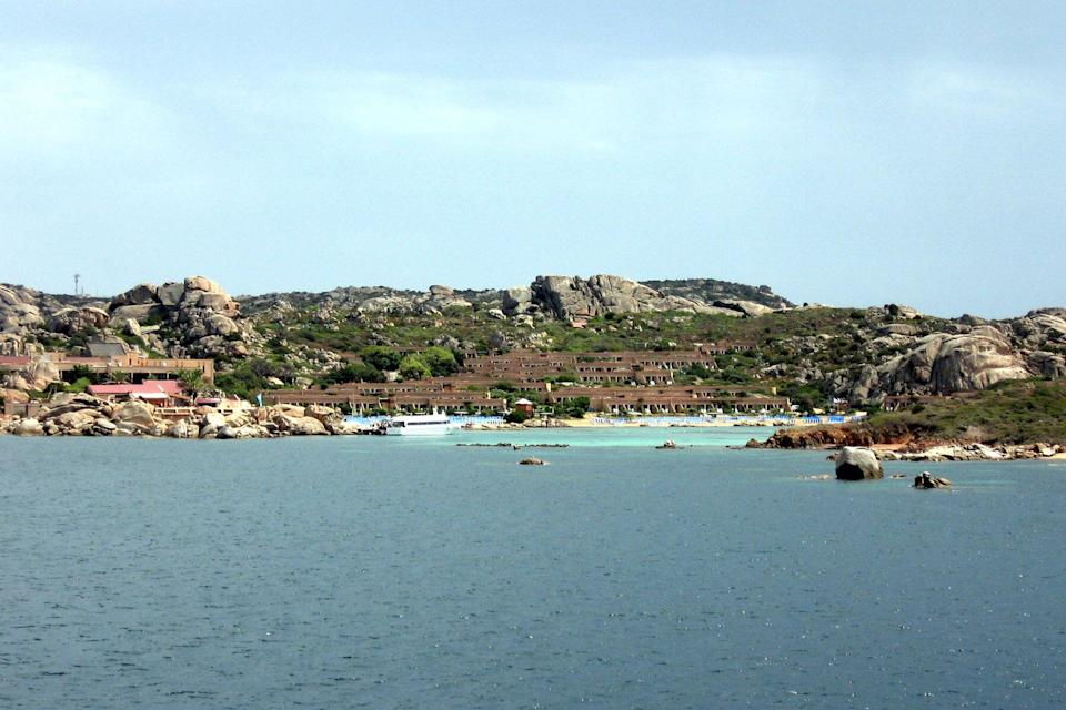 View of Santo Stefano Island in Italy