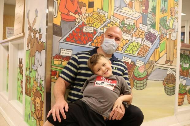 Pediatric physiotherapist Derek Kidd helped ease Nathan out of his trauma after his initial surgery. Cyndy Lewis says Kidd, and all the staff at the Moncton Hospital, were 'beyond amazing.'