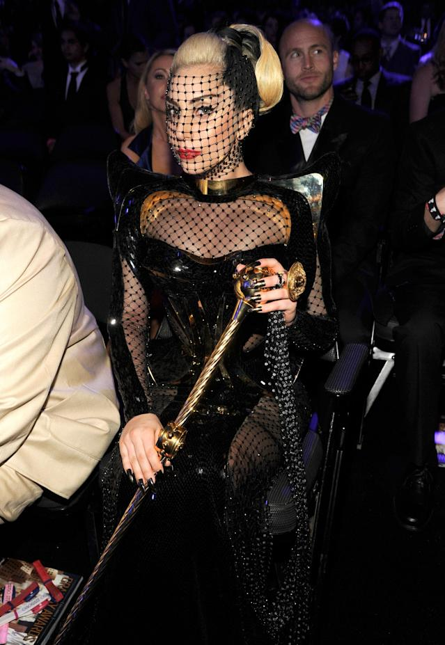 Lady Gaga at the 2012 Grammys. (Photo: Getty Images)