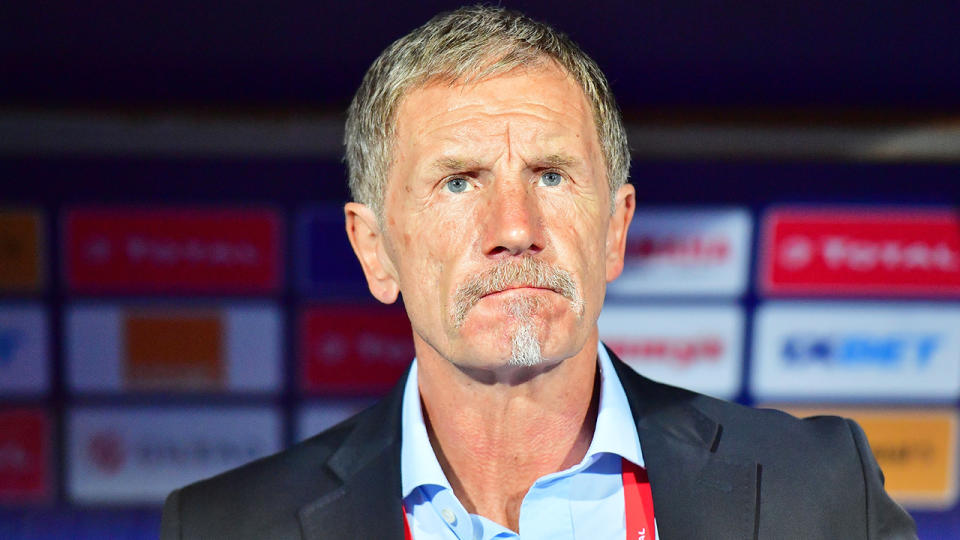 Stuart Baxter, coach of Indian Super League team Odisha, has been slammed for using a tasteless rape analogy to complain about a missed foul call. (GIUSEPPE CACACE/AFP via Getty Images)