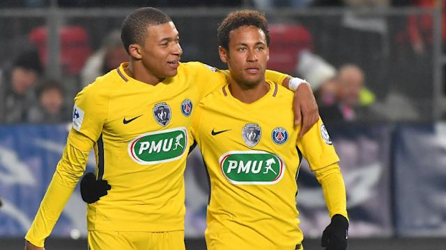 Atletico Madrid coach Diego Simeone would choose to sign Neymar over his Paris Saint-Germain team-mate Kylian Mbappe if he had the choice.