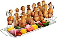 <p>If you love wings, you need the <span>G.a HOMEFAVOR Chicken Leg Wing Rack </span> ($19, originally $25). It's a non-stick stainless steel metal roaster that will evenly cook your wings to perfection. It comes with a drip tray that can also be used to roast veggies. </p>
