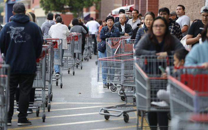 """<p>Just like avoiding rush hour on the highway, try to steer clear of Costco on weekends (the store's busiest days). Instead, try shopping at midday <a href=""""https://www.rd.com/article/best-time-to-go-to-costco/"""" rel=""""nofollow noopener"""" target=""""_blank"""" data-ylk=""""slk:during the week"""" class=""""link rapid-noclick-resp"""">during the week</a> if you can.</p>"""