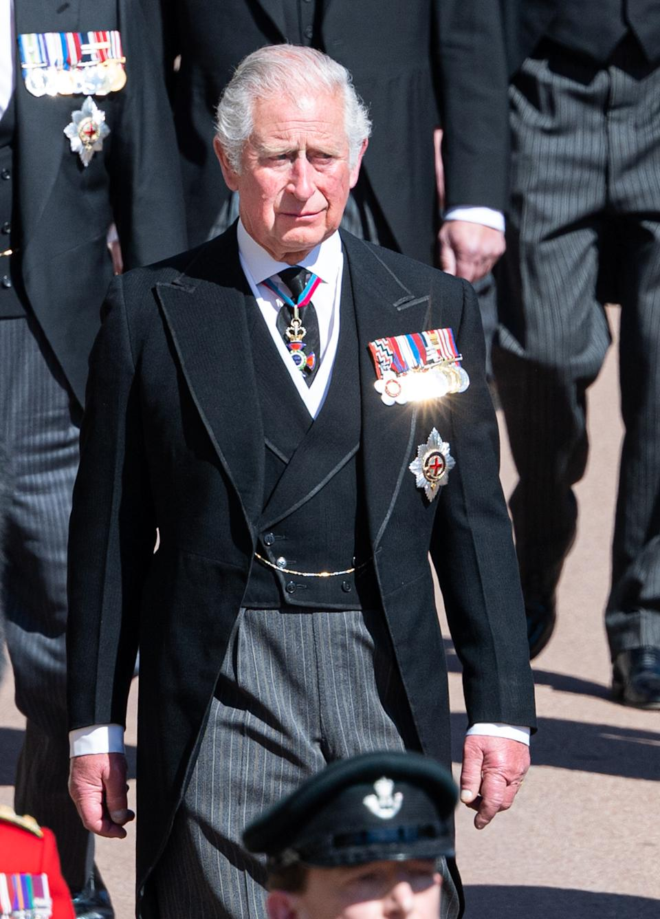 Prince Charles at Prince Philip's funeral