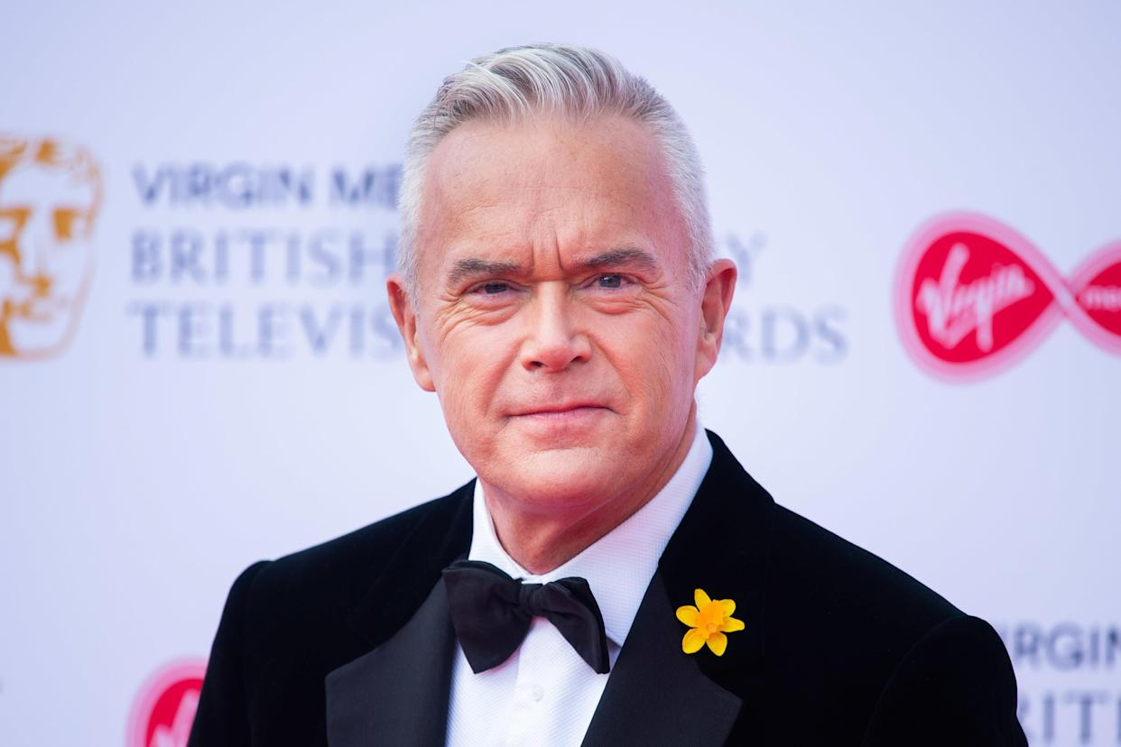 Huw Edwards tweeted his own name. (PA)