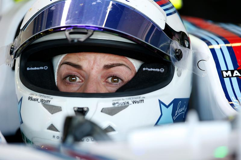 Susie Wolff during practice for the British Grand Prix at Silverstone in 2015 (Photo: Charles Coates via Getty Images)