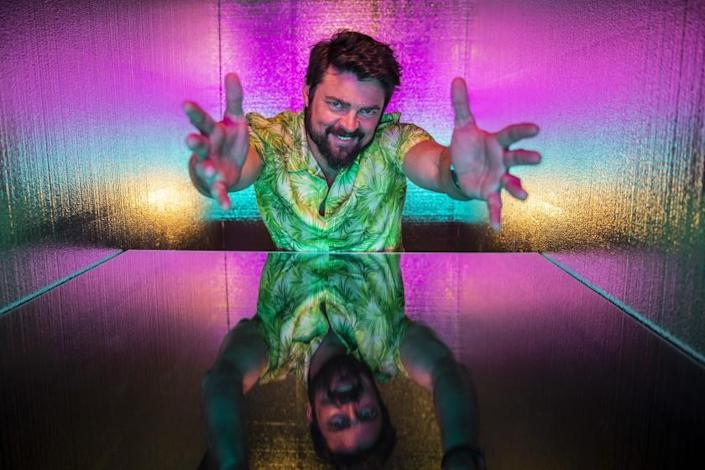 """SAN DIEGO, CALIF. - JULY 20, 2019: Actor Karl Urban from the television series, """"The Boys,"""" photographed at the L.A. Times Photo and Video Studio at Comic-Con International on Saturday, July 20, 2019 in San Diego, Calif. (Jay L. Clendenin / Los Angeles Times)"""