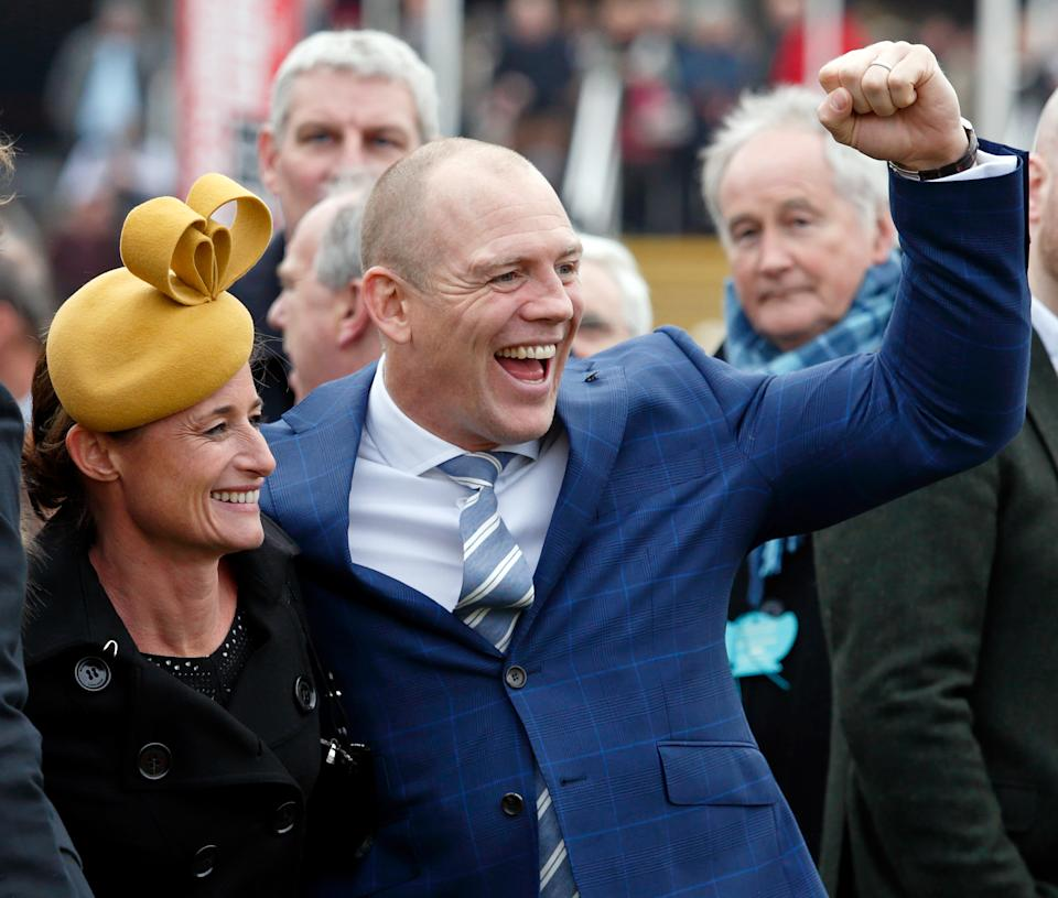 CHELTENHAM, UNITED KINGDOM - MARCH 16: (EMBARGOED FOR PUBLICATION IN UK NEWSPAPERS UNTIL 48 HOURS AFTER CREATE DATE AND TIME) Dolly Maude and Mike Tindall attend day 3 of the Cheltenham Festival at Cheltenham Racecourse on March 16, 2017 in Cheltenham, England. (Photo by Max Mumby/Indigo/Getty Images)