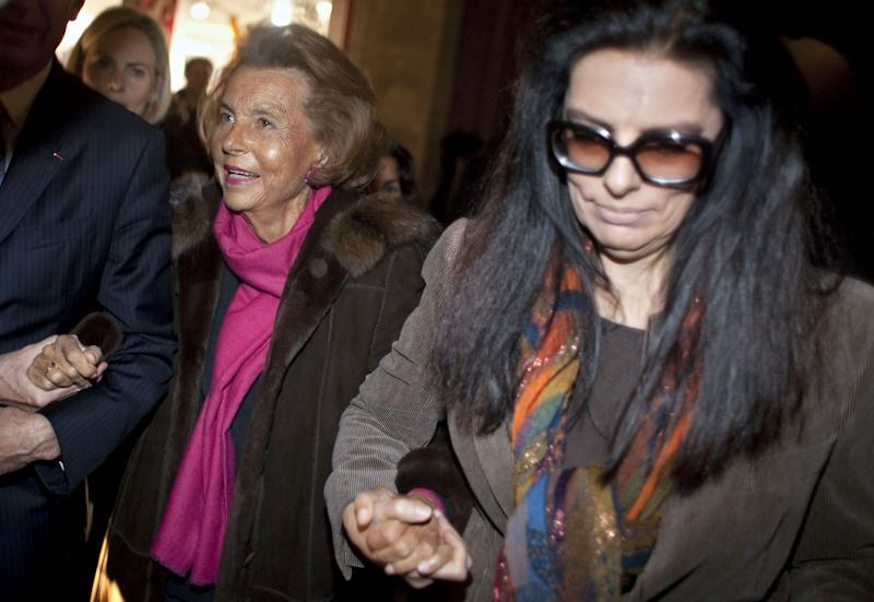 Liliane Bettencourt and Francoise Bettencourt-Meyers
