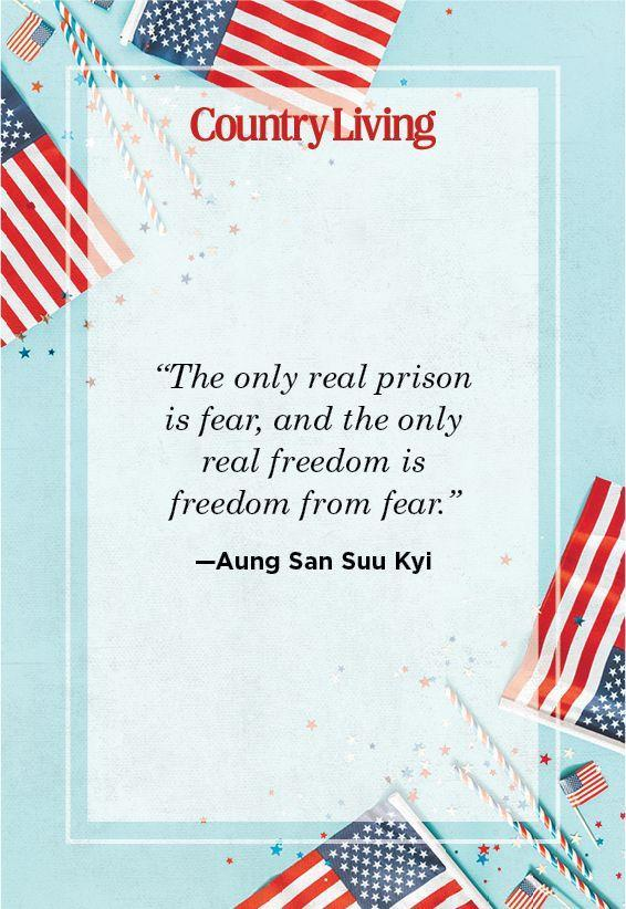 """<p>""""The only real prison is fear, and the only real freedom is freedom from fear.""""</p>"""