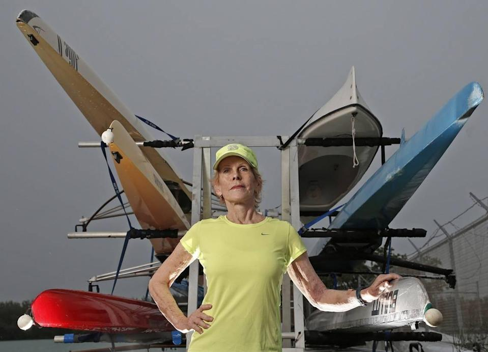Sunny McLean rows competitively at the Miami Rowing Club. She says a boat ramp at the old Miami Marine Stadium would endanger rowers and kayakers in the basin.