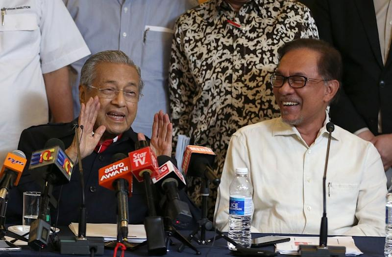 Datuk Seri Anwar Ibrahim said his unlikely cooperation with Tun Dr Mahathir Mohamad now is evidence of the seismic shift in the Malaysian political landscape. — Picture by Abdul Razak Ghazali