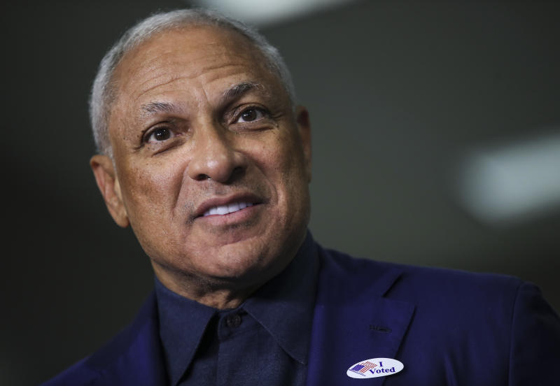 RIDGELAND, MS - NOVEMBER 27: Democratic candidate for U.S. Senate Mike Espy speaks to reporters after voting at a polling place at Highland Colony Baptist Church, November 27, 2018 in Ridgeland, Mississippi. Voters in Mississippi head to the polls for today's special runoff election, where Espy is running in a close race with appointed Republican Senator Cindy Hyde-Smith (R-MS). (Photo by Drew Angerer/Getty Images) (Drew Angerer via Getty Images)