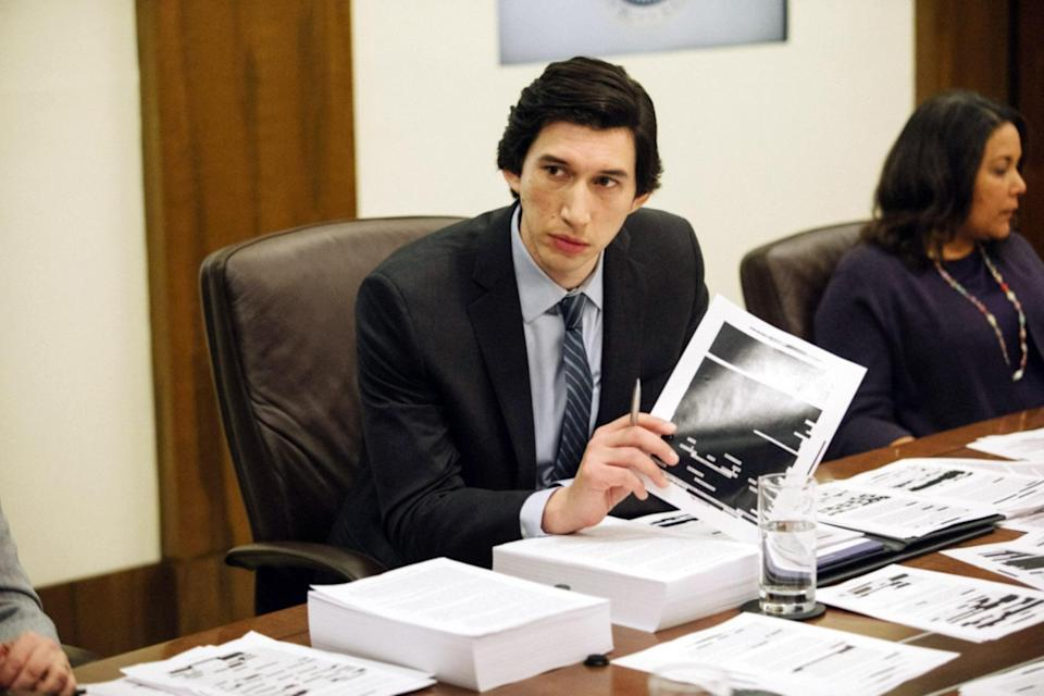 """<p>Adam Driver plays a Senate staffer investigating the CIA's post 9/11 Detention and Interrogation Program. If you're in the mood to take a deep dive into the darkest parts of the American government, then this thriller, based on actual events, is for you.</p> <p><a href=""""https://www.amazon.com/Report-Adam-Driver/dp/B08CS5K9TD/ref=sr_1_1?crid=2Y61X5SINNNGG&dchild=1&keywords=the+report&qid=1608334571&s=instant-video&sprefix=the+report%2Caps%2C187&sr=1-1"""" rel=""""nofollow noopener"""" target=""""_blank"""" data-ylk=""""slk:Available to stream on Amazon Prime"""" class=""""link rapid-noclick-resp""""><em>Available to stream on Amazon Prime</em></a></p>"""