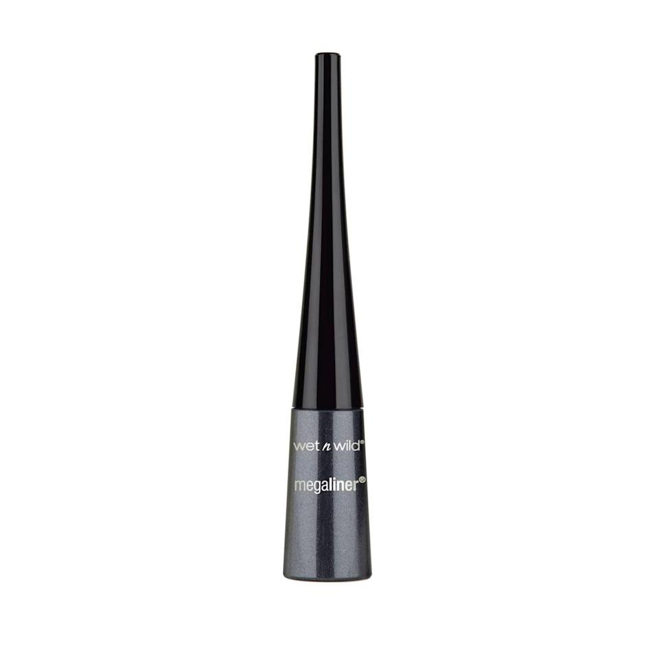 "<p>The <a href=""https://www.popsugar.com/buy/Wet-n-Wild-Megaliner-Liquid-Eyeliner-587520?p_name=Wet%20n%20Wild%20Megaliner%20Liquid%20Eyeliner&retailer=target.com&pid=587520&price=3&evar1=bella%3Aus&evar9=30490550&evar98=https%3A%2F%2Fwww.popsugar.com%2Fphoto-gallery%2F30490550%2Fimage%2F47612855%2FEyeliner-Wet-n-Wild-Megaliner-Liquid-Eyeliner&list1=hair%2Cmakeup%2Cbeauty%20products%2Cbeauty%20shopping%2Cdrugstore%20beauty%2Cskin%20care&prop13=api&pdata=1"" class=""link rapid-noclick-resp"" rel=""nofollow noopener"" target=""_blank"" data-ylk=""slk:Wet n Wild Megaliner Liquid Eyeliner"">Wet n Wild Megaliner Liquid Eyeliner</a> ($3) will give you a smooth edge and precise eyeliner application in just one coat. </p>"