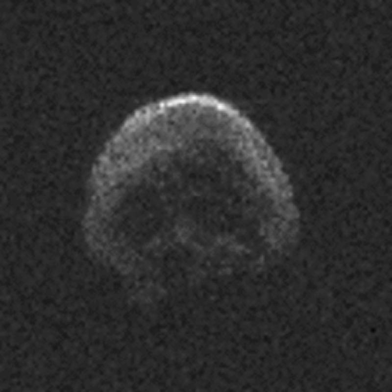 A massive space rock that will shave by Earth on Halloween looks like a dead comet with a skull face, NASA says