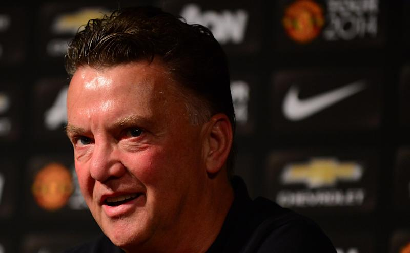Manchester United coach Louis Van Gaal speaks during a press conference in Pasadena, California, on July 22, 2014