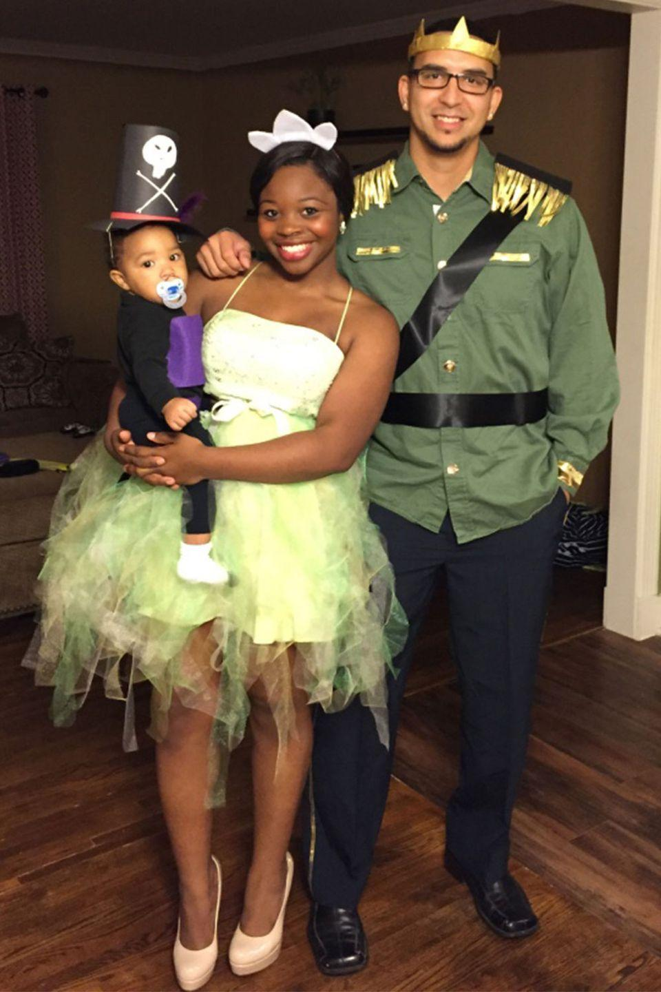 "<p>This family knocked <em><a href=""https://www.amazon.com/Tiana-Classic-Disney-Princess-Costume/dp/B07NF28VVS?tag=syn-yahoo-20&ascsubtag=%5Bartid%7C10055.g.23653854%5Bsrc%7Cyahoo-us"" rel=""nofollow noopener"" target=""_blank"" data-ylk=""slk:Princess and the Frog"" class=""link rapid-noclick-resp"">Princess and the Frog</a></em> out of the park. Cutest <a href=""https://www.amazon.com/Facilier-inspired-Necklace-princess-Disneybound/dp/B07HGGDCV8?tag=syn-yahoo-20&ascsubtag=%5Bartid%7C10055.g.23653854%5Bsrc%7Cyahoo-us"" rel=""nofollow noopener"" target=""_blank"" data-ylk=""slk:Doctor Facilier"" class=""link rapid-noclick-resp"">Doctor Facilier</a> ever! </p>"