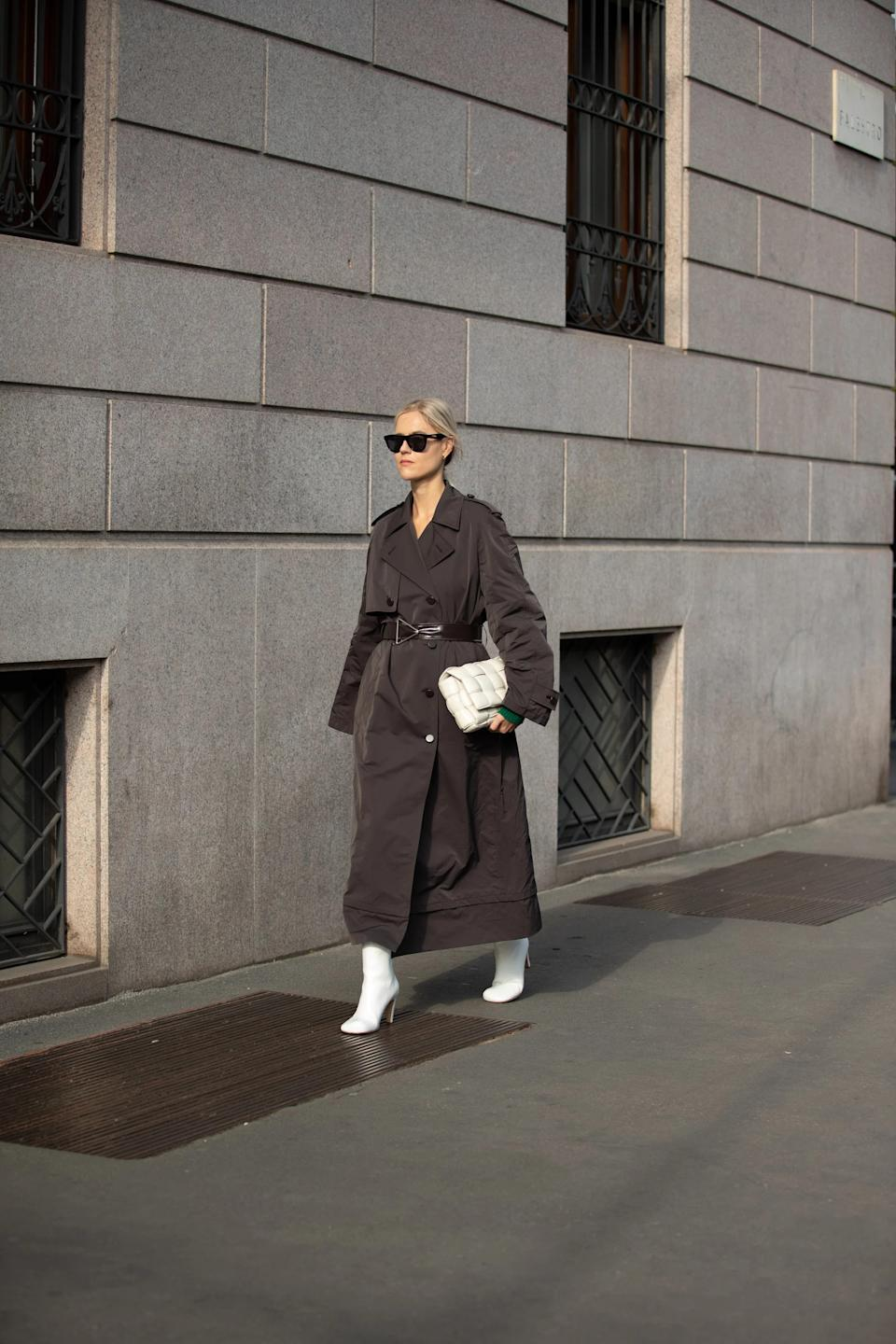 """When in doubt, throw a trench over it. <span class=""""copyright""""> Photographed by Melodie Jeng.</span>"""