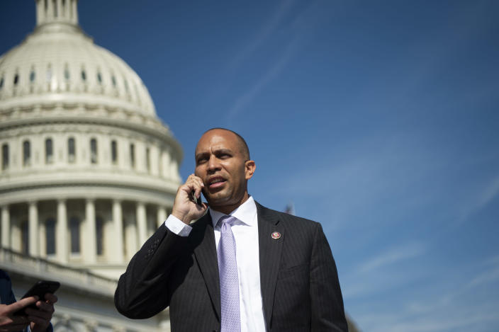 Jeffries on Capitol Hill, Sept. 27, 2019. (Caroline Brehman/CQ-Roll Call, Inc via Getty Images)