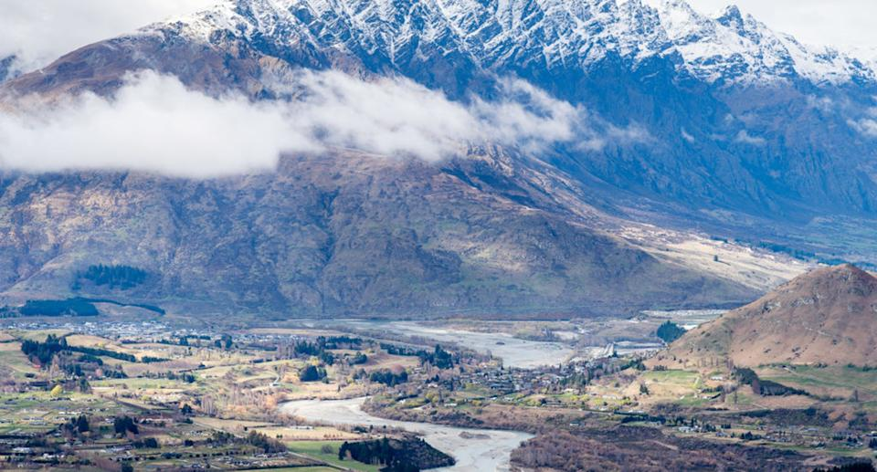 An aerial view of Queenstown.
