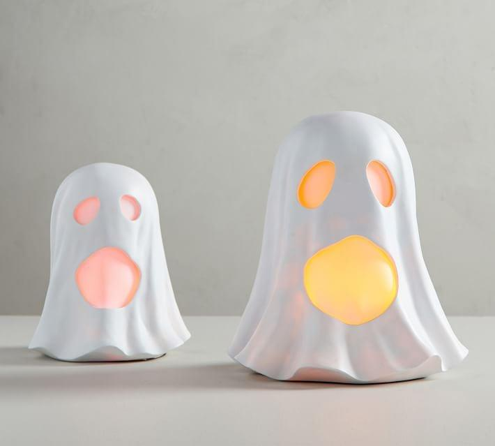 <p>The <span>Light Up LED Ghosts</span> ($40-$50) add a boo-tiful touch to a bookshelf or tabletop.</p>