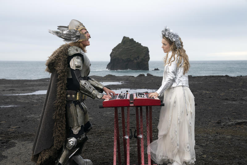 EUROVISION SONG CONTEST: The Story of Fire Saga - Will Ferrell as Lars Erickssong, Rachel McAdams as Sigrit Ericksdottir. Credit Elizabeth Viggiano/NETFLIX © 2020