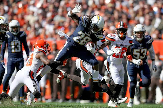 Melvin Gordon has been one of the clear-cut top rushers this fantasy season. (Photo by Frank Jansky/Icon Sportswire via Getty Images)