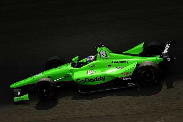 "Danica Patrick is ""relieved"" to have exceeded her expectations in making the 'Fast Nine' for the Indianapolis 500 because she felt off the pace in her first day of testing"