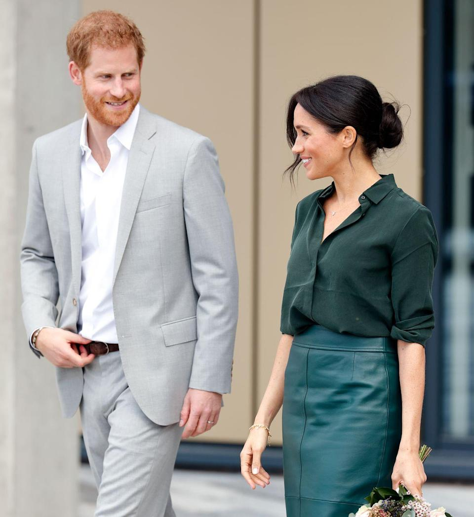 <p>Another speculation is that Meghan's signature low, messy bun makes it seamless for her to wear her hair down for another event later that same day. Her loose updo doesn't cause those annoying hair creases like tighter updos tend to do.</p>