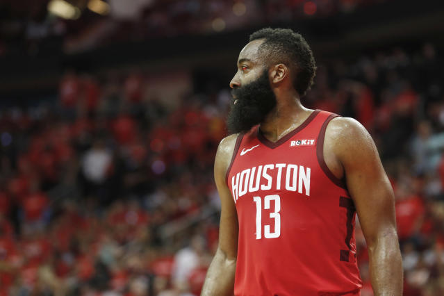 James Harden averaged 36.1 points per game last season. The only NBA player to average more in the last 50 years? Michael Jordan. (Photo by Tim Warner/Getty Images)