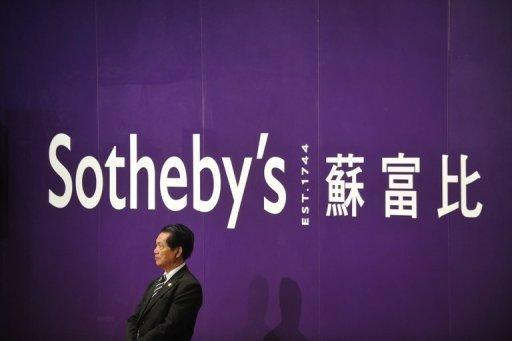 Sotheby's holds an auction in Hong Kong in April 2012