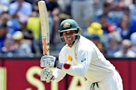 Australia's Usman Khawaja scored 144 on the first day of the second Test against the West Indies on December 26, 2015 (AFP Photo/William West)